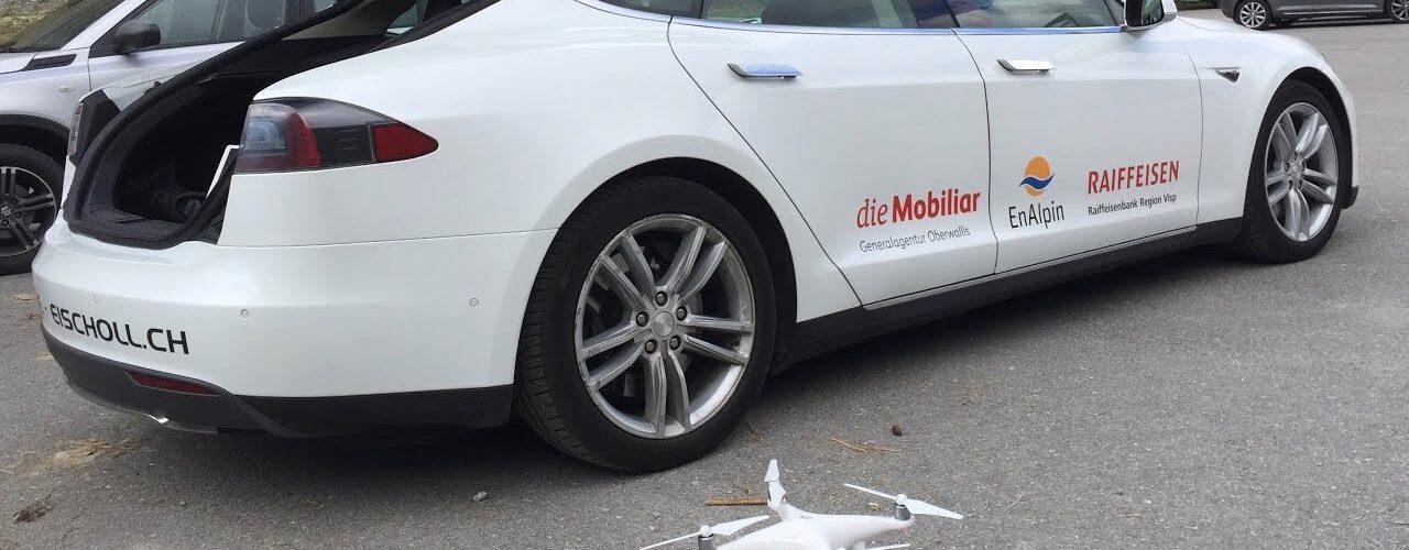Tesla взломали с помощью дрона